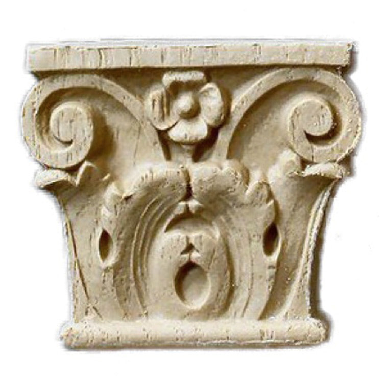 "Brockwell's 2-3/8""(W) x 2-1/8""(H) - Miniature Acanthus Pilaster Accent - (2 PACK) - [Compo Material]- - ColumnsDirect.com"