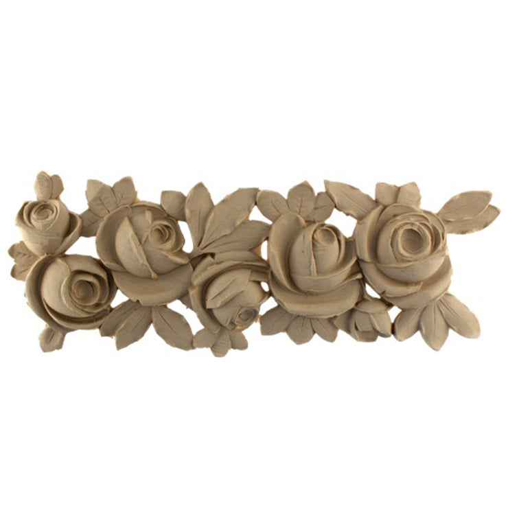 "Brockwell's 19-1/2""(W) x 6-3/4""(H) x 1/2""(Relief) - Ornate Applique - French Floral Design - [Compo Material]- - ColumnsDirect.com"