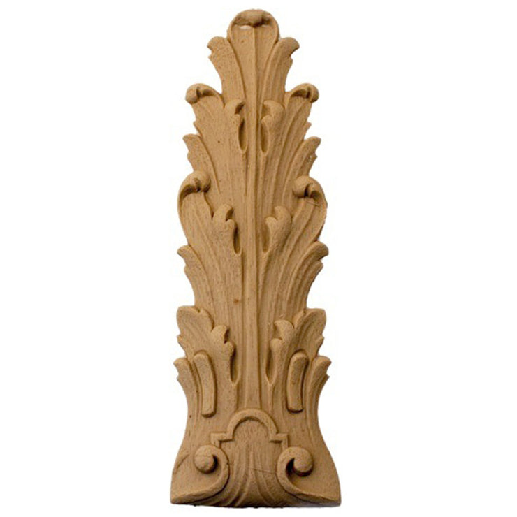 "Brockwell's 2-1/8""(W) x 6-1/2""(H) - Ornate Applique - Acanthus Leaf Design - [Compo Material]- - ColumnsDirect.com"