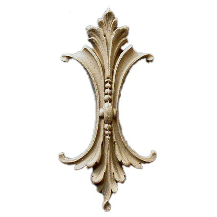 "Brockwell's 2-3/8""(W) x 5""(H) x 9/16""(Relief) - Ornate Applique - Louis XVI Acanthus Leaf - [Compo Material]- - ColumnsDirect.com"