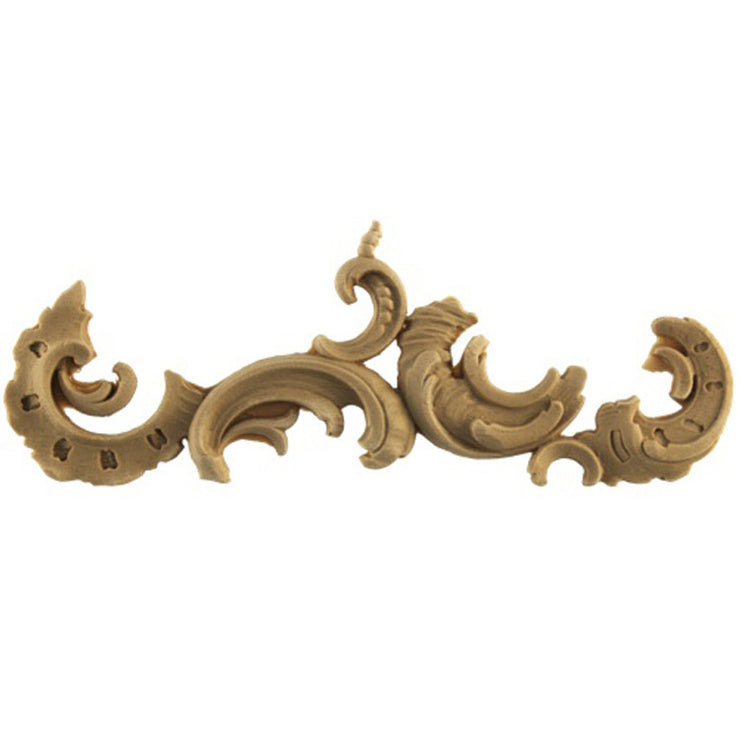 "Brockwell's 6-1/4""(W) x 2-3/8""(H) x 5/16""(Relief) - Ornate Applique - Louis XV Scroll Design - [Compo Material]- - ColumnsDirect.com"