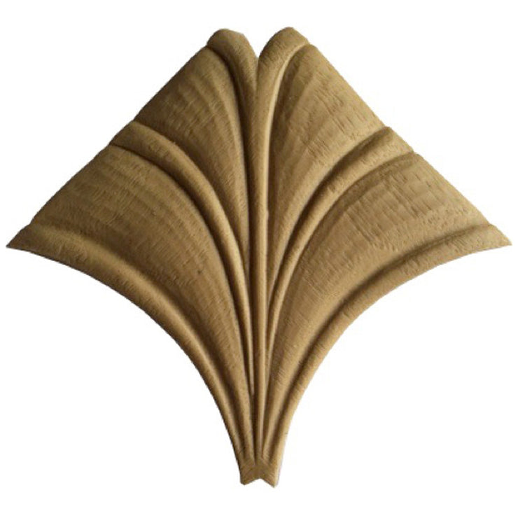 "Brockwell's 3-1/8""(W) x 3-1/8""(H) - Ornate Applique - Modern Leaf Design - [Compo Material]- - ColumnsDirect.com"