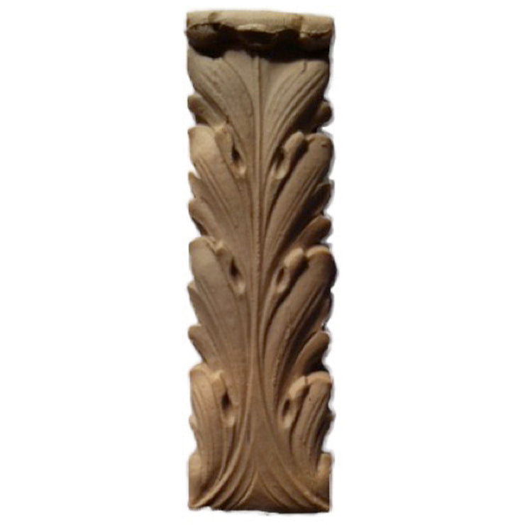 "Brockwell's 1""(W) x 3-1/2""(H) - Deco Accent - Acanthus Leaf Style - (2 PACK) - [Compo Material]- - ColumnsDirect.com"