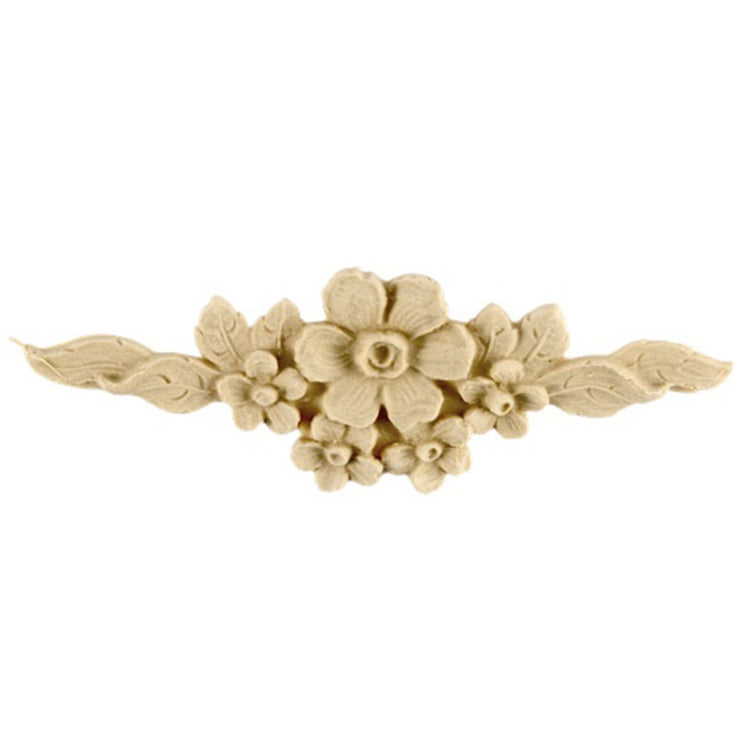 "Brockwell's 4-3/4""(W) x 1-1/2""(H) - Deco Applique - Floral Design - (2 PACK) - [Compo Material]- - ColumnsDirect.com"