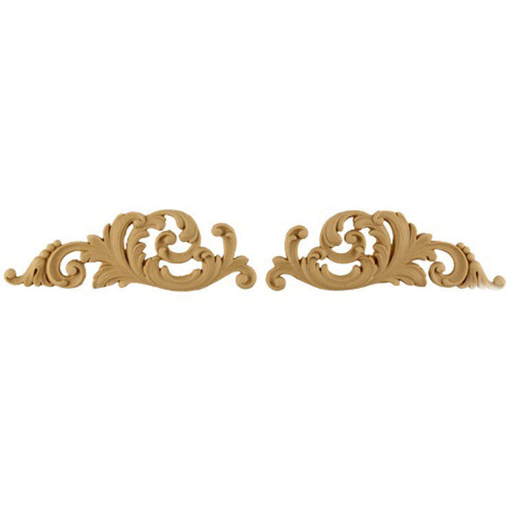 "Brockwell's 6""(W) x 2""(H) - Interior Stainable Accent - Leafy Scrolls Design - (PAIR) - [Compo Material]- - ColumnsDirect.com"