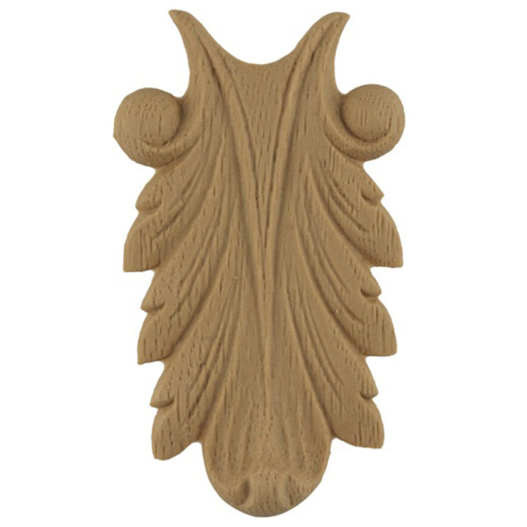 "Brockwell's 1-3/4""(W) x 3-1/4""(H) - Interior Stain-Grade Accent - Acanthus Leaf - [Compo Material]- - ColumnsDirect.com"
