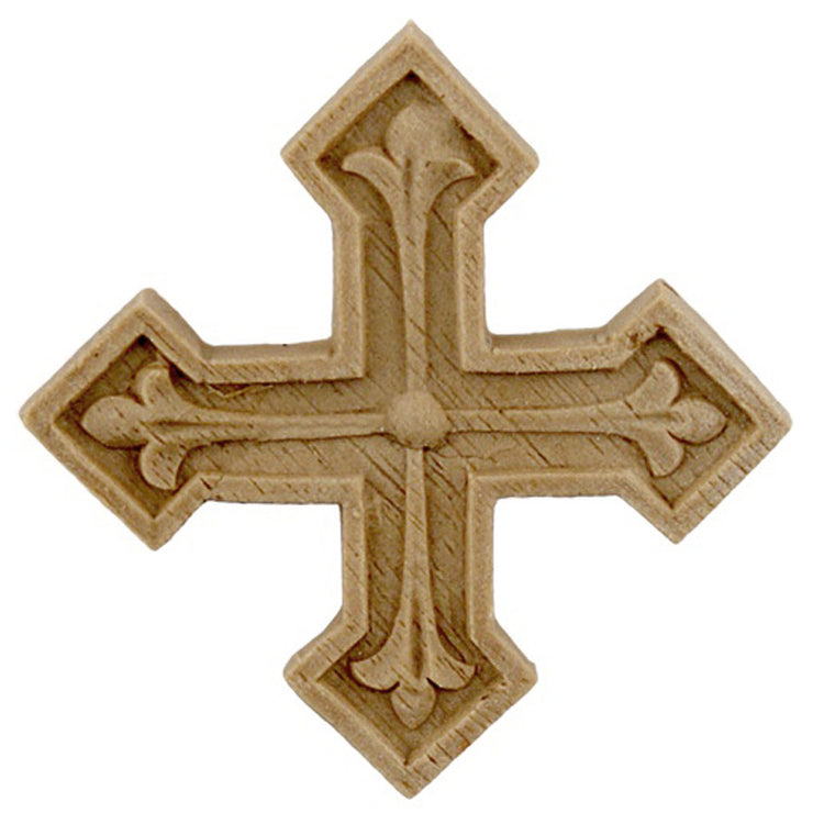 "Brockwell's 2""(W) x 2""(H) - Interior Applique - Decorative Cross Applique - [Compo Material]- - ColumnsDirect.com"