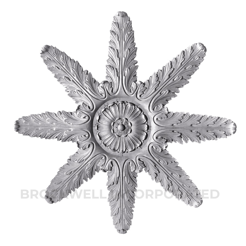Buy French style acanthus plaster ceiling medallions at ColumnsDirect.com