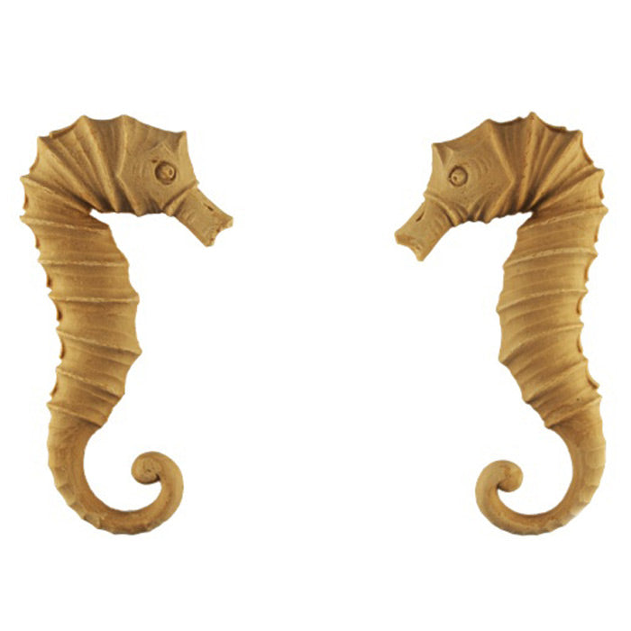 "2-1/2""(W) x 4-1/2""(H) x 3/8""(Relief) - Sea Horse Design (PAIR) - [Compo Material] - Brockwell Incorporated"