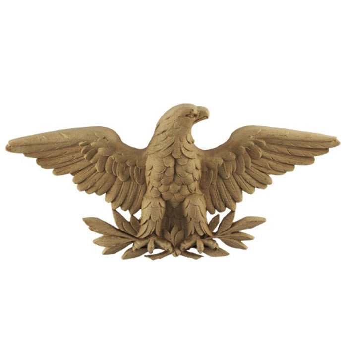 eagle resin applique for wood mantels