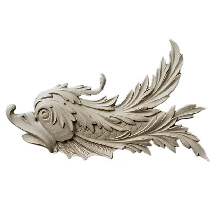 "13""(W) x 8-1/2""(H) x 3/4""(Relief) - Fish Design (Facing Left) - [Compo Material] - Brockwell Incorporated"