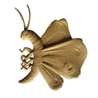 "3-7/8""(W) x 3-7/8""(H) x 3/16""(Relief) - Butterfly Design - [Compo Material] - Brockwell Incorporated"