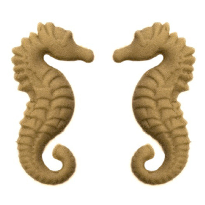 "9/16""(W) x 1""(H) - Sea Horse Design (PAIR) - [Compo Material] - Brockwell Incorporated"