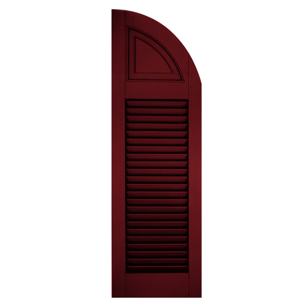 Solid Panel Arch Top Louver / Panel Combination Shutters - [Architectural Collection] - Brockwell Incorporated