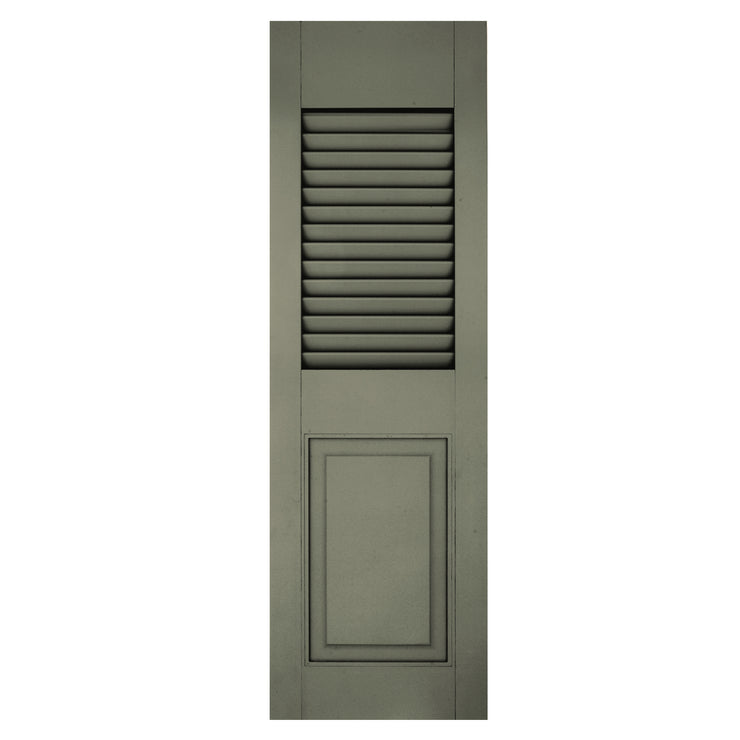 Exterior Window Shutters Custom Top or Bottom Rail Louver / Panel Combination Shutters - [Architectural Collection] - Brockwell Incorporated - ColumnsDirect.com