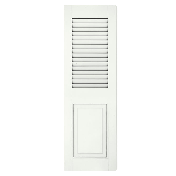 Exterior Window Shutters Rabbeted Edge Louver / Panel Combination Shutters - [Architectural Collection] - Brockwell Incorporated - ColumnsDirect.com