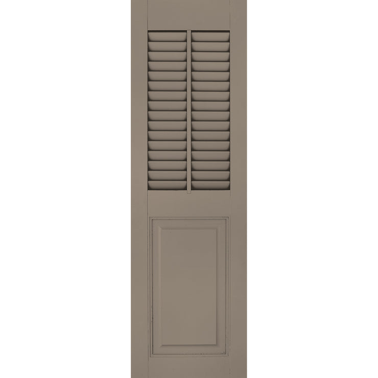 Exterior Window Shutters Vertical Mullion Louver / Panel Combination Shutters - [Architectural Collection] - Brockwell Incorporated - ColumnsDirect.com