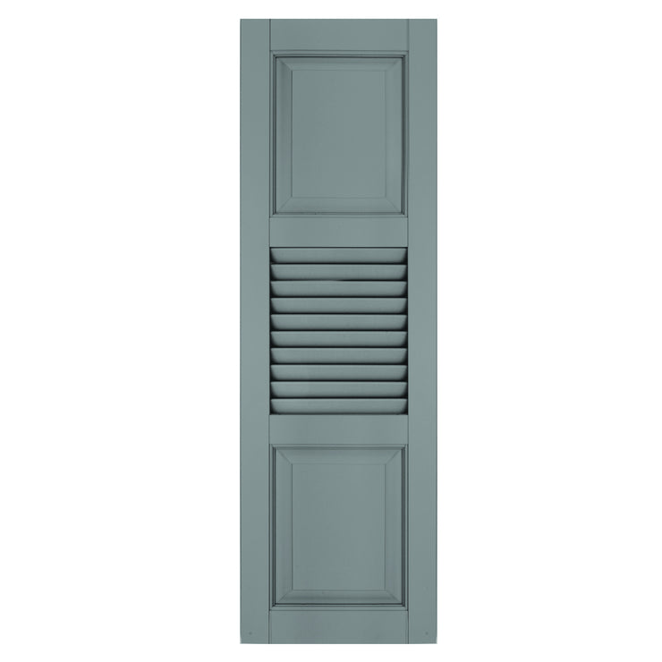 Exterior Window Shutters Extra Panel Louver / Panel Combination Shutters - [Architectural Collection] - Brockwell Incorporated - ColumnsDirect.com