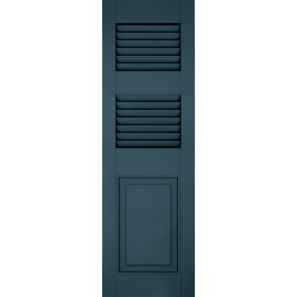 Exterior Window Shutters Additional Rail Louver / Panel Combination Shutters - [Architectural Collection] - Brockwell Incorporated - ColumnsDirect.com