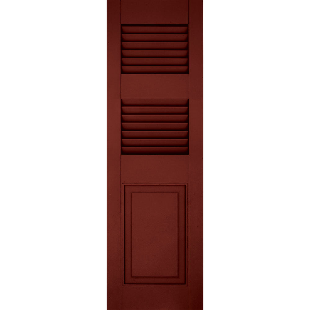 Additional Rail Louver / Panel Combination Shutters - [Architectural Collection] - Brockwell Incorporated