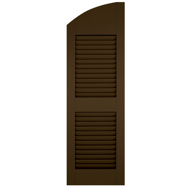 Purchase-Arch (Radius Top) Faux Louver Shutters - [Classic Collection]-Brockwell Incorporated