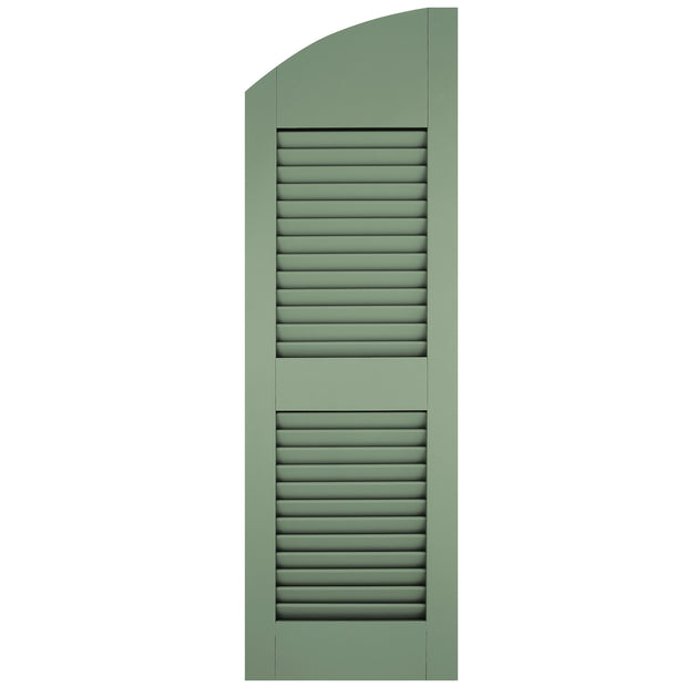 Exterior Window Shutters Solid Arch Top Open Louver Shutters - [Architectural Collection] - Brockwell Incorporated - ColumnsDirect.com