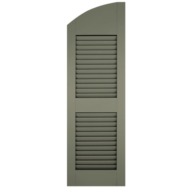 Solid Arch Top Open Louver Shutters - [Architectural Collection] - Brockwell Incorporated