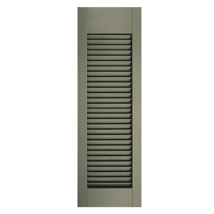Custom Top or Bottom Rail Location Open Louver Shutters - [Architectural Collection] - Brockwell Incorporated
