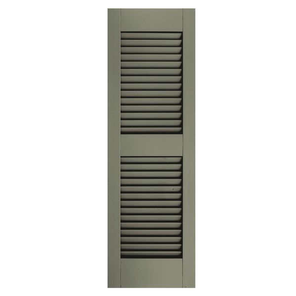 Additional Rail Open Louver Shutters - [Architectural Collection] - Brockwell Incorporated