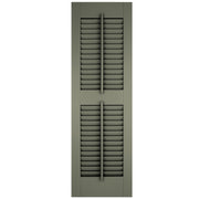 Faux Tilt Rod Open Louver Shutters - [Architectural Collection] - Brockwell Incorporated