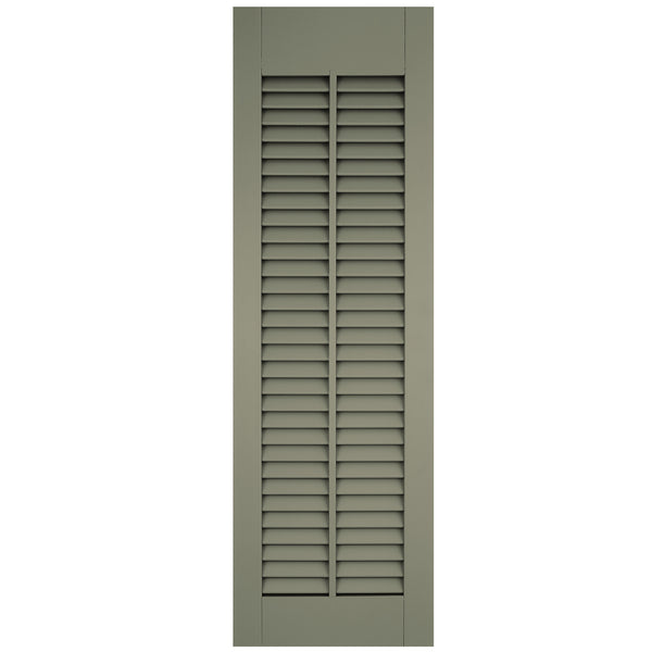 Vertical Mullion Open Louver Shutters - [Architectural Collection] - Brockwell Incorporated