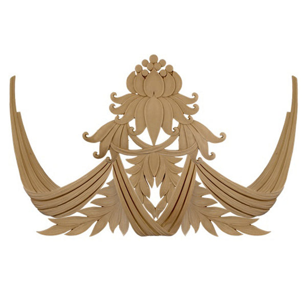 "37-7/8""(W) x 21-3/4""(H) x 3/8""(Relief) - Modern Lotus Motif Applique - [Compo Material] - Brockwell Incorporated"