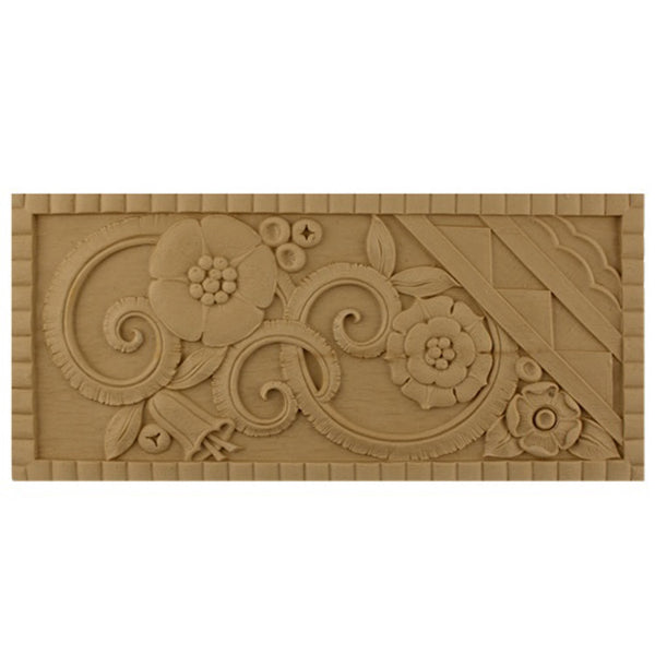"12""(W) x 5-1/2""(H) x 1/4""(Relief) - Art Deco Ornament - [Compo Material] - Brockwell Incorporated"