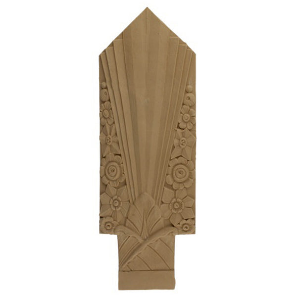 "6""(W) x 17-5/8""(H) x 5/16""(Relief) - Art Deco Accent for Woodwork - [Compo Material] - Brockwell Incorporated"