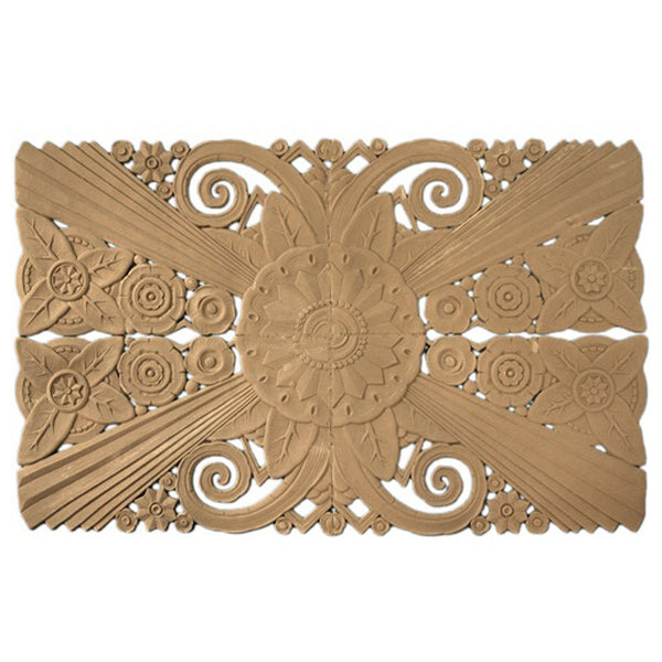 "22-1/2""(W) x 35""(H) x 1/4""(Relief) - Large Art Deco Applique - [Compo Material] - Brockwell Incorporated"