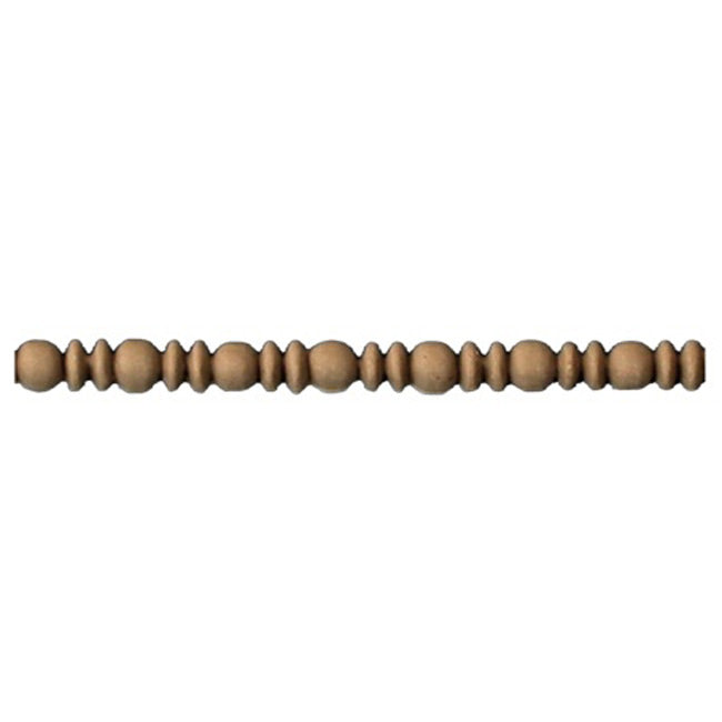 "1/4""(H) x 7/32""(Relief) - Stainable Linear Moulding - Greek Bead & Barrel Design - [Compo Material] - ColumnsDirect.com"