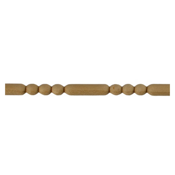 "5/16""(H) x 3/16""(Relief) - Linear Stainable Molding - Classic Bead & Barrel Design - [Compo Material] - ColumnsDirect.com"