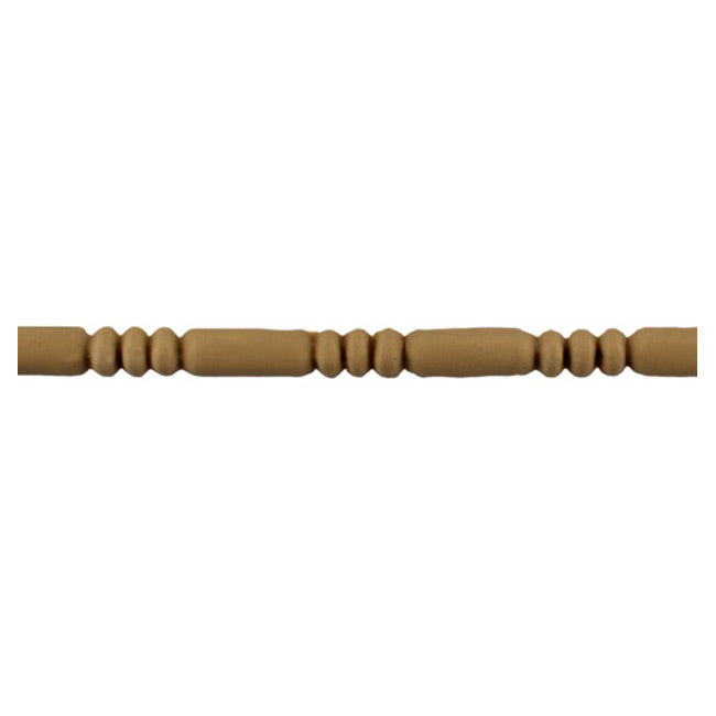 "9/16""(H) x 1/4""(Relief) - Linear Moulding - Interior Roman Bead & Barrel Style - [Compo Material] - ColumnsDirect.com"