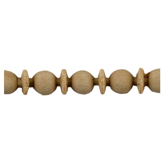 "3/8""(H) x 1/4""(Relief) - Linear Moulding - Interior Greek Bead & Barrel Style - [Compo Material] - ColumnsDirect.com"