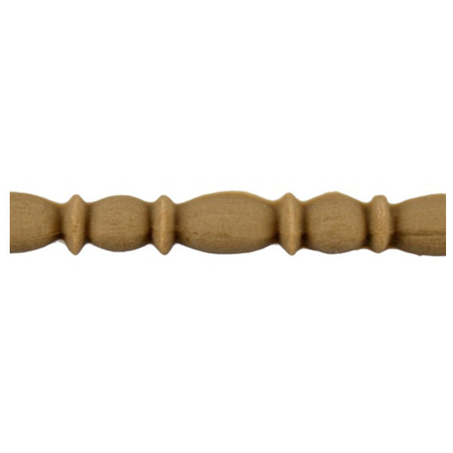 "3/8""(H) x 1/4""(Relief) - Linear Moulding - Interior Roman Bead & Barrel Style - [Compo Material] - ColumnsDirect.com"
