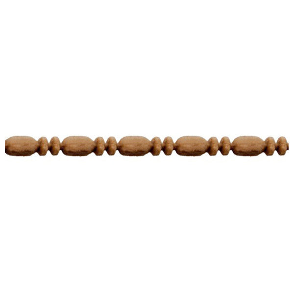 "1/8""(H) x 1/8""(Relief) - Linear Moulding - Roman Bead & Barrel Style - [Compo Material] - ColumnsDirect.com"