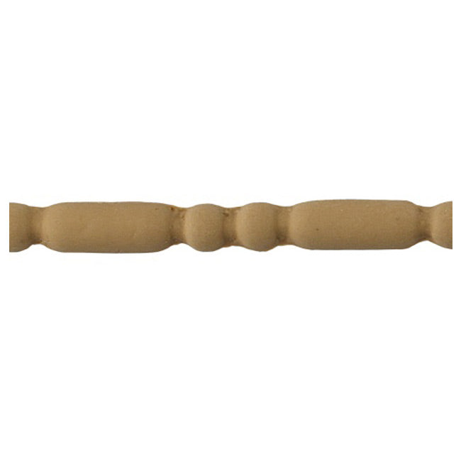 "7/16""(H) x 1/4""(Relief) - Renaissance Style Bead & Barrel Linear Molding Design - [Compo Material] - ColumnsDirect.com"