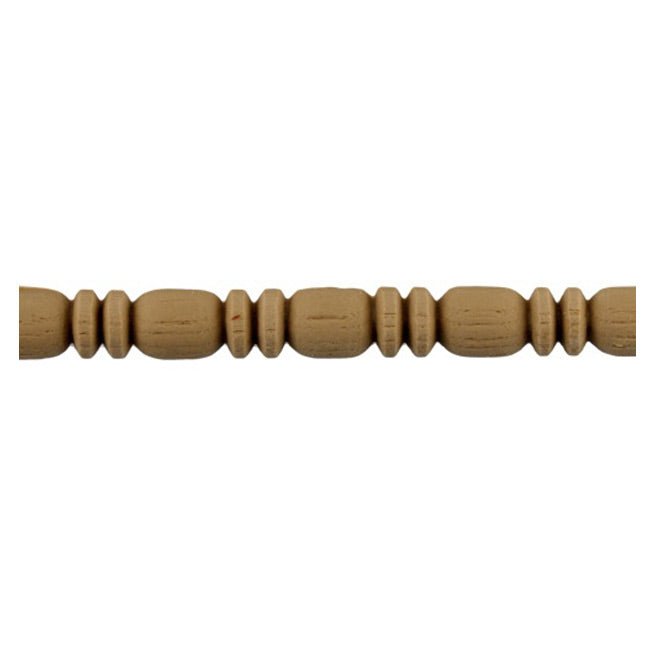 "9/16""(H) x 7/16""(Relief) - Stainable Linear Molding - Roman Bead & Barrel Design - [Compo Material] - ColumnsDirect.com"