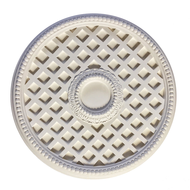 Colonial Style Elegant Plaster Ceiling Medallion from Brockwell Incorporated