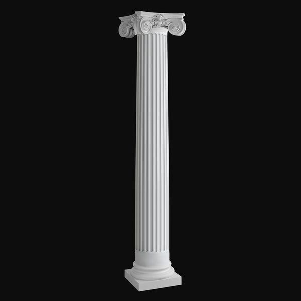 Exterior fiberglass Columnd Design #BR-141 fluted Scamozzi column from Brockwell Incorporated