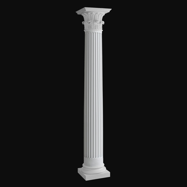 "Column Design #BR-151 - Fluted, Round, Tapered Greek Corinthian ""Tower of the Winds"" Fiberglass Column from Brockwell Incorporated"