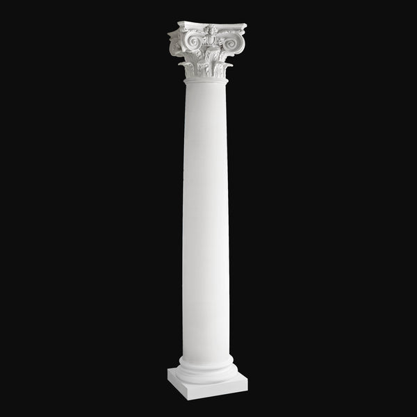 Fiberglass Column Design #BR-154 - Plain, round, tapered Modern Composite Column from Brockwell Incorporated
