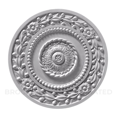 "18"" Diameter plaster empire ceiling medallion design from Brockwell Incorporated"