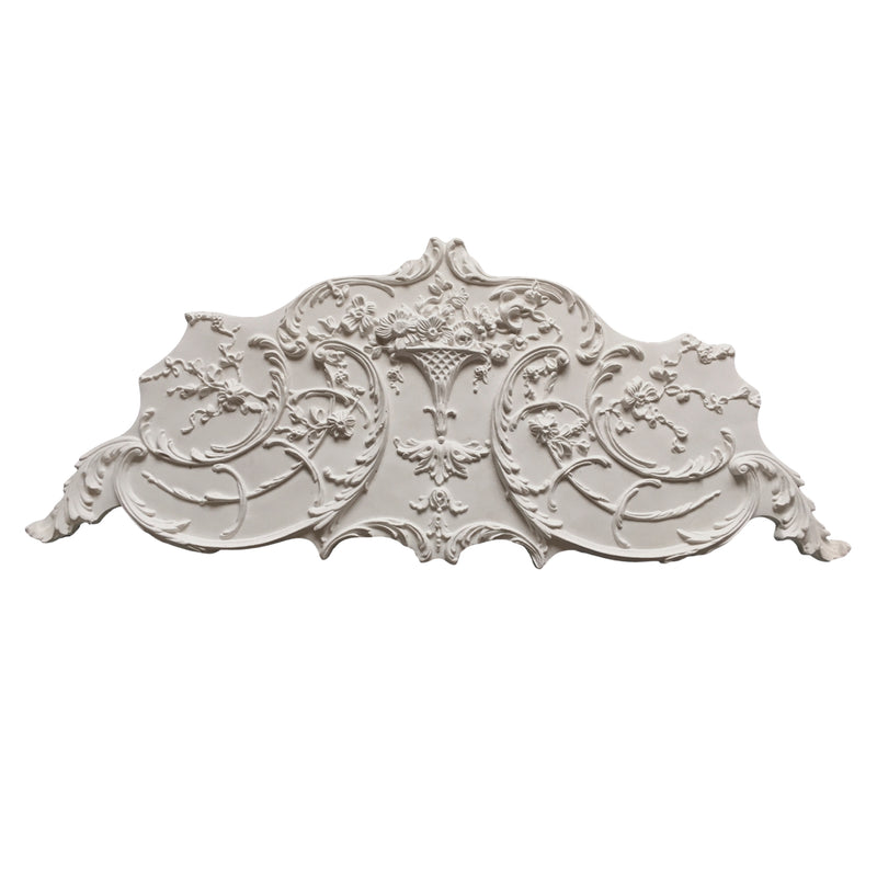 Louis XV Plaster Side Ornament for Ceiling Decoration