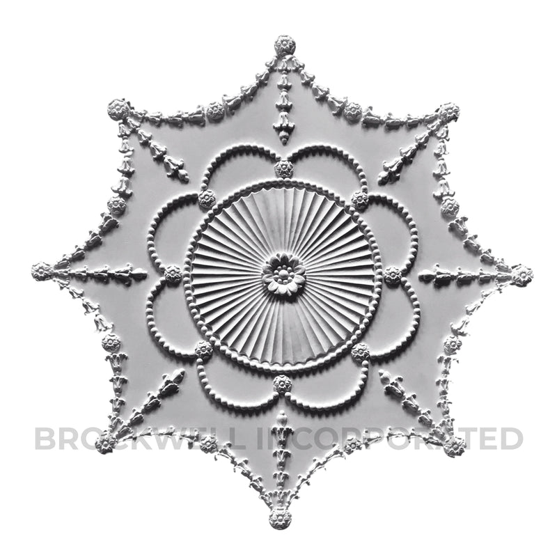 "35"" Plaster Empire Style Ceiling Centerpiece from Brockwell Incorporated"